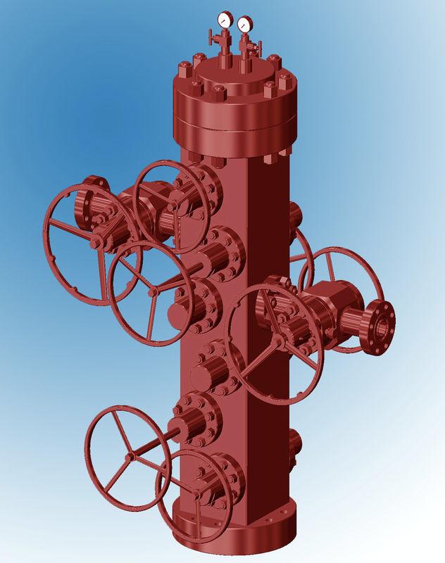 Albero Di Natale Petrolio.Attrezzatura Convenzionale Dell Albero Di Natale Della Testa Di Pozzo Per Petrolio E Gas Ad Alta Resistenza
